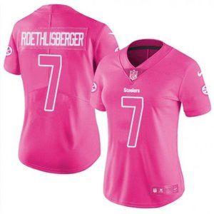 Women Steelers Ben Roethlisberger Pink Jersey